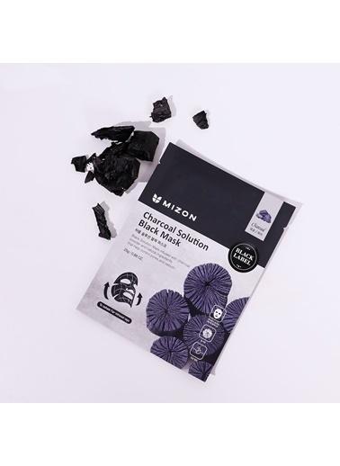 Mizon Mizon Charcoal Solution Black Mask Kömürlü Gözenek Arındırıcı Maske Renksiz